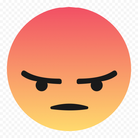 Angry Emoji Face Facebook Messenger Reaction Icon